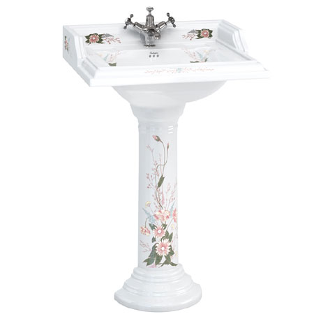 Burlington English Garden Square Basin and Pedestal