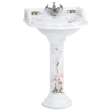 Burlington English Garden Round Basin and Pedestal