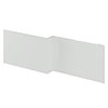 Brooklyn 1700 Grey Mist L-Shaped Front Bath Panel profile small image view 1