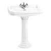 Burlington Edwardian 80cm Basin and Regal Round Pedestal - Various Tap Hole Options profile small image view 1