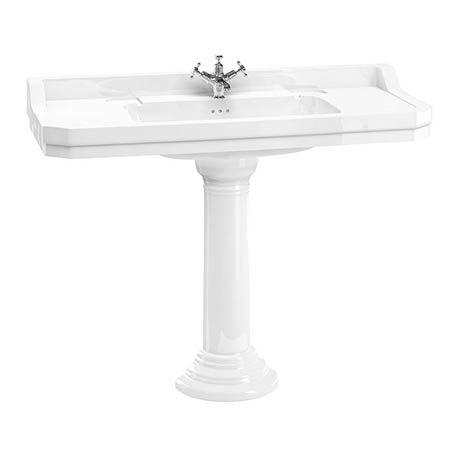 Burlington Edwardian 120cm Basin with Regal Round Pedestal