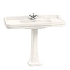 Burlington Medici 1200mm 1TH Edwardian Basin and Pedestal profile small image view 1