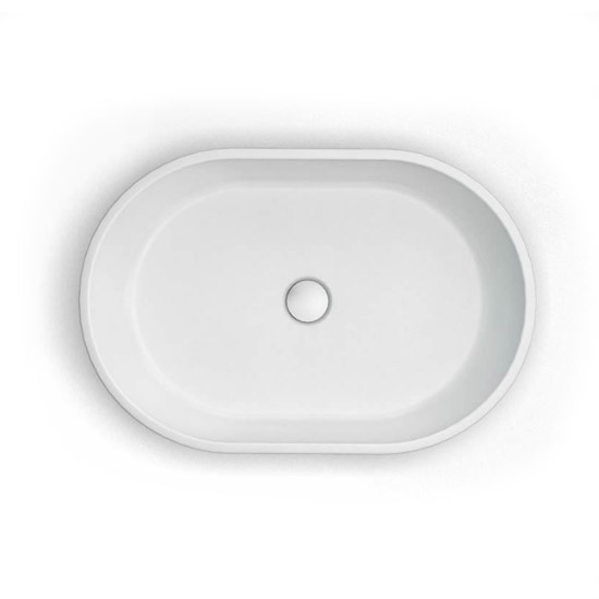 Clearwater - Formoso Bacino Natural Stone Countertop Basin - W590 x D390mm - B1A Profile Large Image