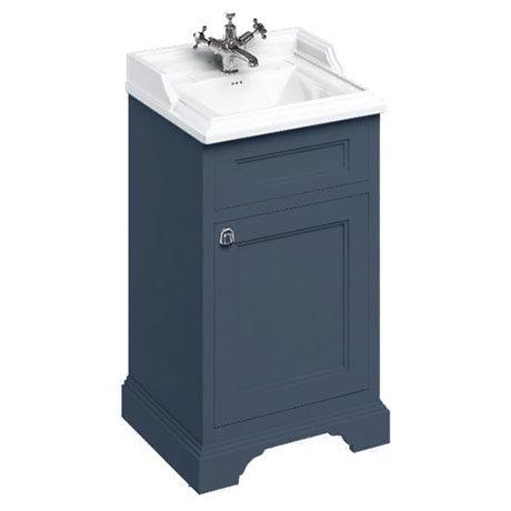 Burlington 50cm Freestanding Cloakroom Vanity Unit & Basin - Blue