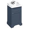 Burlington 50cm Freestanding Cloakroom Vanity Unit & Basin - Blue profile small image view 1