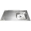 Franke Single Bowl Stainless Steel Kitchen Sink with Drainer profile small image view 1