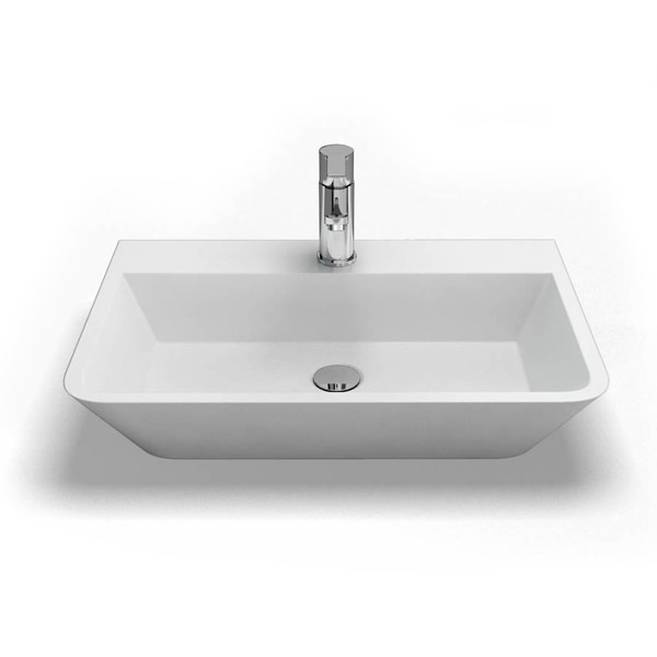 Clearwater - Patinato Bacino Natural Stone Countertop Basin - W590 x D390mm - B2B Large Image