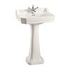 Burlington Medici 560mm Edwardian Basin and Pedestal profile small image view 1