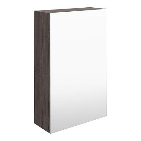 Brooklyn 450mm Grey Avola Bathroom Mirror Unit