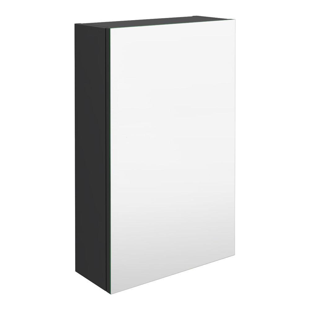 Brooklyn 450mm Gloss Grey Bathroom Mirror Unit