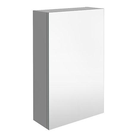 Brooklyn 450mm Grey Mist Bathroom Mirror Unit
