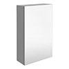 Brooklyn 450mm Grey Mist Bathroom Mirror Unit profile small image view 1