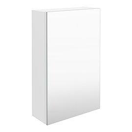Brooklyn 450mm Gloss White Bathroom Mirror Unit