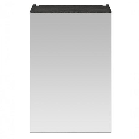 Brooklyn 450mm Black Bathroom Mirror Unit