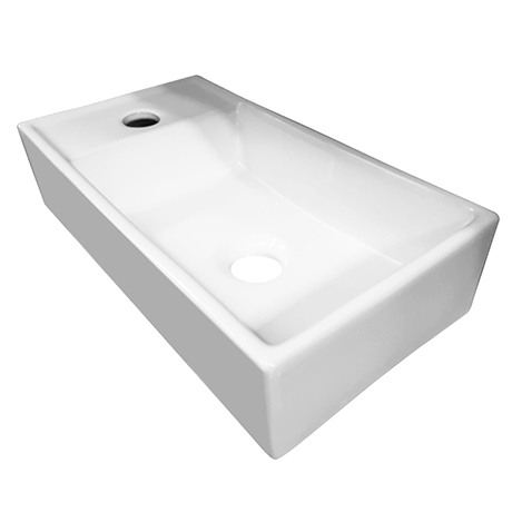 Bromley 410 x 220 Ceramic Counter Top Basin (1 Tap Hole)