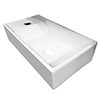 Bromley 410 x 220 Ceramic Counter Top Basin (1 Tap Hole) profile small image view 1