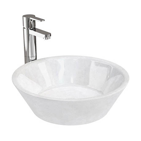 Aqua Cabinets Carrera Marble Cone Basin