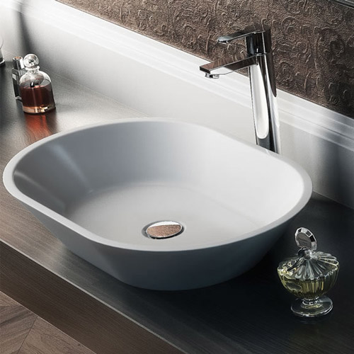 Clearwater - Sontuoso Bacino Natural Stone Countertop Basin - Various Size Options Profile Large Ima