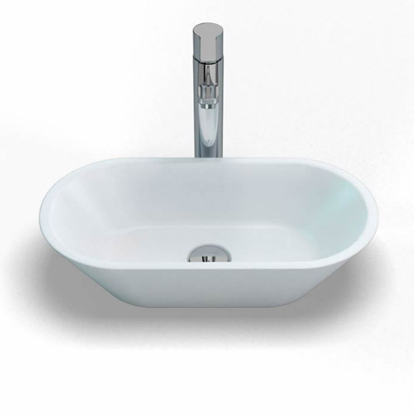 Clearwater - Sontuoso Bacino 500 Natural Stone Countertop Basin - W490 x D250mm - B6E Large Image