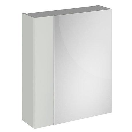 Brooklyn 600mm Grey Mist Bathroom Mirror & Fascia Cabinet