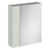 Brooklyn 600mm Grey Mist Bathroom Mirror & Fascia Cabinet profile small image view 1