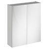 Brooklyn 600mm Grey Mist Bathroom Mirror Cabinet - 2 Door profile small image view 1