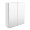 Brooklyn 600mm Gloss White Bathroom Mirror Cabinet - 2 Door profile small image view 1