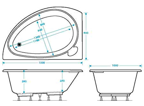Utility tub dimensions the best 28 images of standard for Small corner bathtub dimensions
