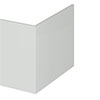 Brooklyn 700 Gloss Grey Mist L-Shaped End Bath Panel profile small image view 1
