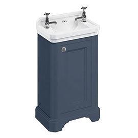 Burlington Freestanding Cloakroom Vanity Unit & Basin - Blue