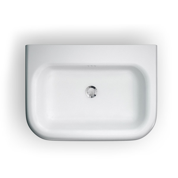 Clearwater - Medium Traditional Roll Top Basin with Stainless Steel Stand - W650 x D470mm Profile Large Image