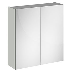 Brooklyn 800mm Grey Mist Bathroom Mirror Cabinet - 2 Door