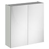 Brooklyn 800mm Grey Mist Bathroom Mirror Cabinet - 2 Door profile small image view 1