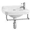 Burlington 51cm Cloakroom Basin with Towel Rail - 1 Tap Hole profile small image view 1