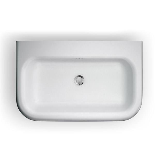 Clearwater - Large Traditional Roll Top Basin with Stainless Steel Stand - W750 x D470mm profile large image view 2