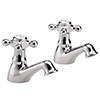 Hudson Reed Jade Crosshead Basin Taps - Chrome - BA301 profile small image view 1