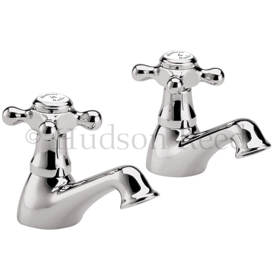Hudson Reed Jade Crosshead Bath Taps - Chrome - BA302 Large Image