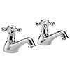 Hudson Reed Jade Crosshead Bath Taps - Chrome - BA302 profile small image view 1