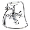 Hudson Reed Jade Crosshead Bath Shower Mixer with Shower Kit - Chrome - BA304 profile small image view 1