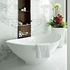 BC Designs Kurv Freestanding Modern Bath 1890 x 900mm profile small image view 1