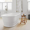 BC Designs Aurelius Double Ended Freestanding Bath 1740 x 760mm profile small image view 1