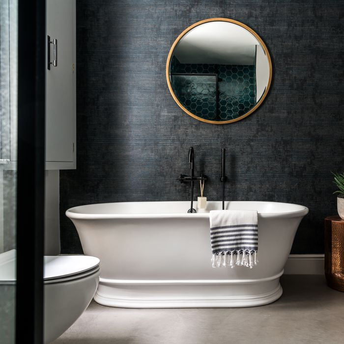 BC Designs Bampton Double Ended Freestanding Bath 1555 x 740mm - Polished White