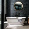 BC Designs Bampton Double Ended Freestanding Bath 1555 x 740mm - Silk Matt White profile small image view 1
