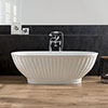 BC Designs Casini Double Ended Freestanding Bath 1680 x 750mm profile small image view 1