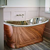 BC Designs 1700mm Copper / Nickel Double Ended Freestanding Bath profile small image view 1