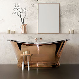 BC Designs 1500mm Copper / Nickel Double Ended Freestanding Bath