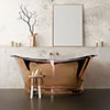 BC Designs 1500mm Copper / Nickel Double Ended Freestanding Bath profile small image view 1