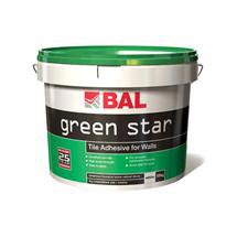 BAL - 10 Ltr (15kg) Wall Green Star Tile Adhesive - White - B100 Medium Image