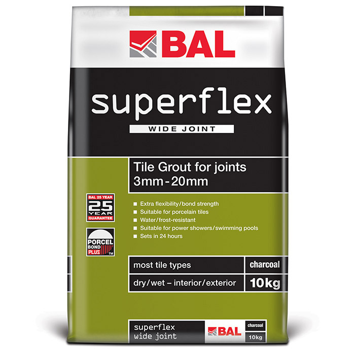 BAL - 10kg Superflex Wide Joint Grout - White - B170 Large Image