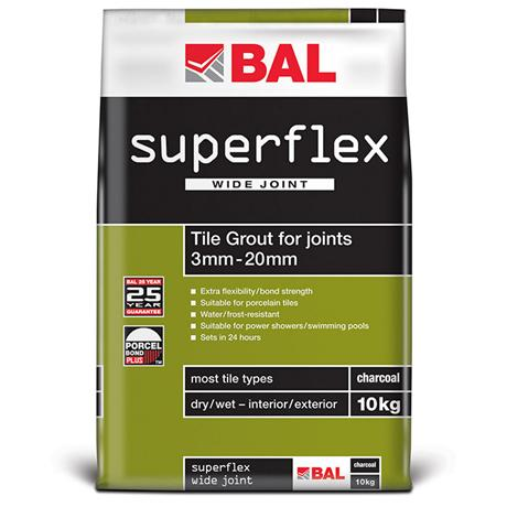 BAL - 10kg Superflex Wide Joint Grout - White - B170